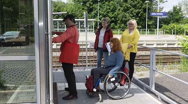 Reisen für Alle - Datenerhebung  zur Barrierefreiheit am Bahnhof